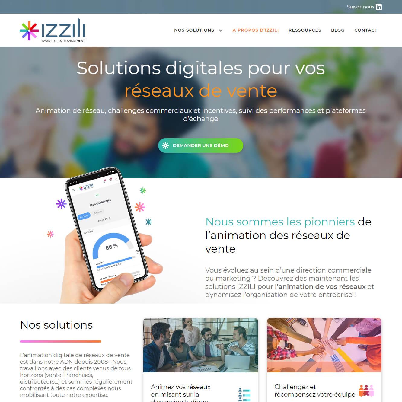 Site web Izzili